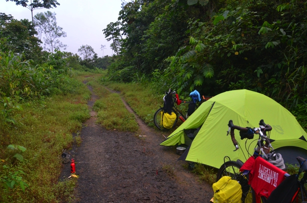 Camping on the old road