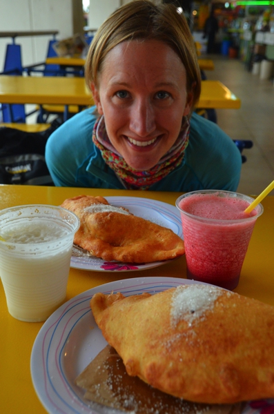 Empanadas Ecuador-style are very similar to fried bread from back home.  Yum!