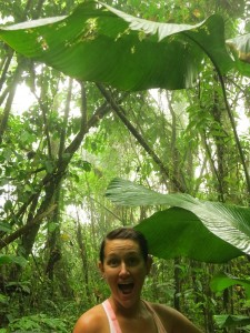 Laura, super excited to be in the rainforest.