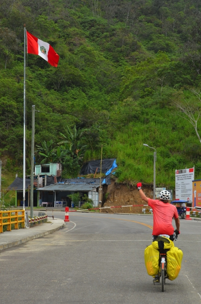 crossing the bridge to Peru