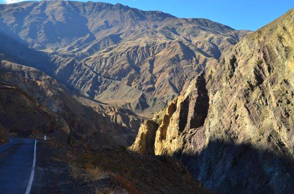 sun rising into the canyon