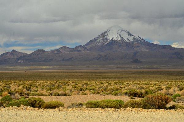 Nevado Sajama, highest peak in Bolivia.