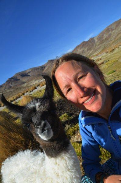 Baby llama and me