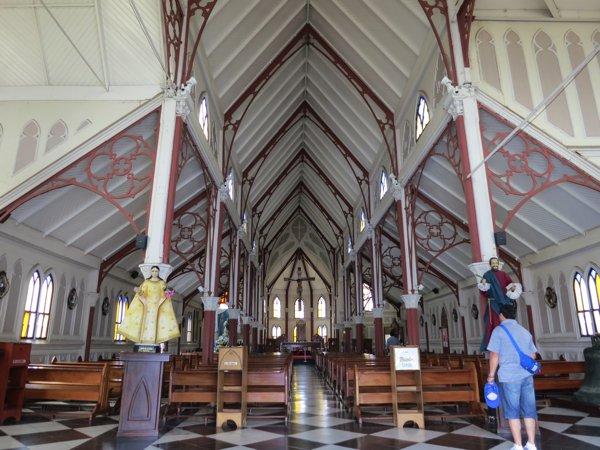 A peek inside the church