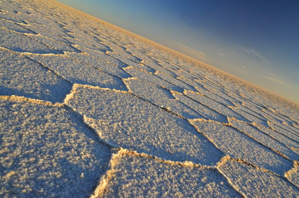 It was easy to get disoriented riding on the salar