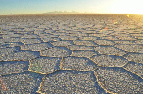 Late afternoon on the salar