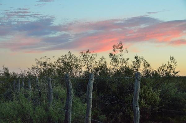 Sunset at camp.