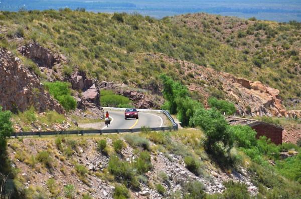 A small amount of climbing outside San Rafael.