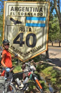 Kilometer makers are counting down to Rio Gallegos, Argentina's southern most point on continental South America.