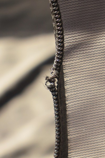 Frayed zipper