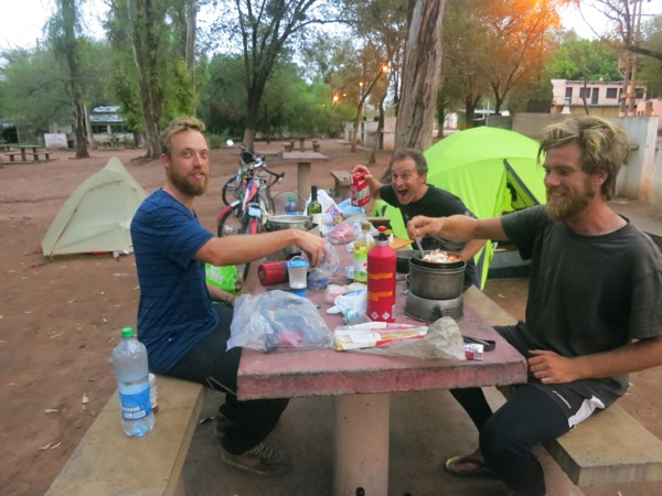 Our group became separated today, but we ran into Matt and Tom at the end of the day and are camped in a municipal campground.
