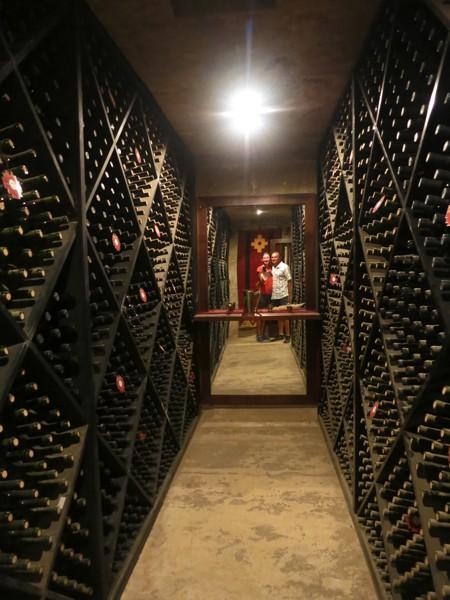Scott and I in the wine cellar of El Porvenir.