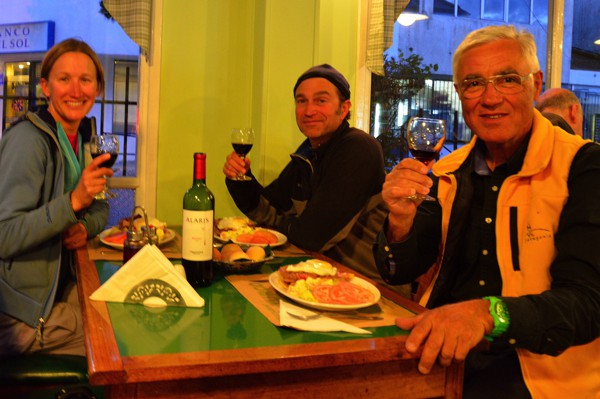 Celebratory dinner and drinks with François, who we met in our hike across the Chile/Argentina border.