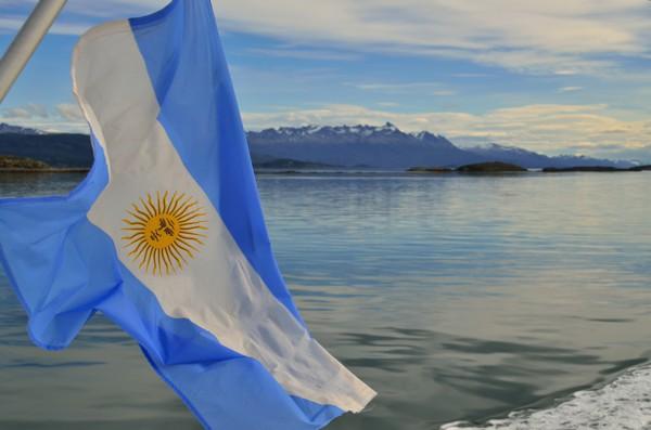 Argentina's flag.