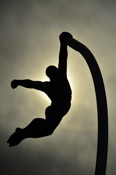 Statue in Puerto Natales.