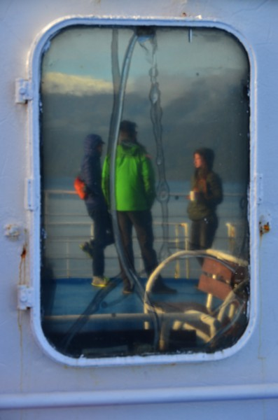 Reflection in a porthole.