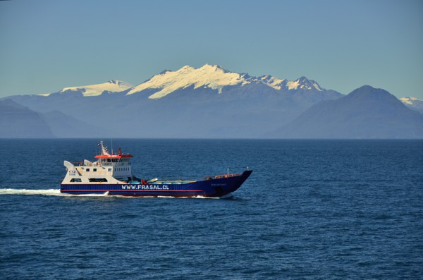As we drew closer to Puerto Montt we began to see other boat traffic.