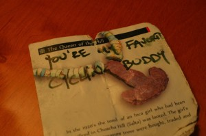"A note I found one day in my pannier. ""You're My Favorite Cycling Buddy"""