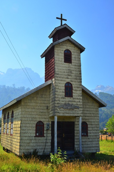 Typical church architecture for the Patagonia.