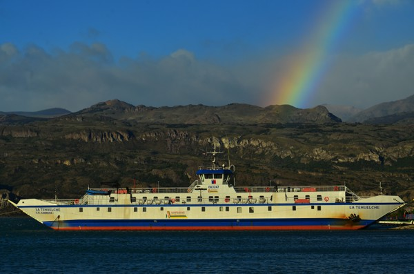 Our ferry is at the end of the rainbow! That must be a good sign.