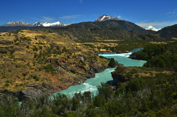 The turquoise water of the Rio Baker. Factoid: It's Chile's largest river by volume of water.