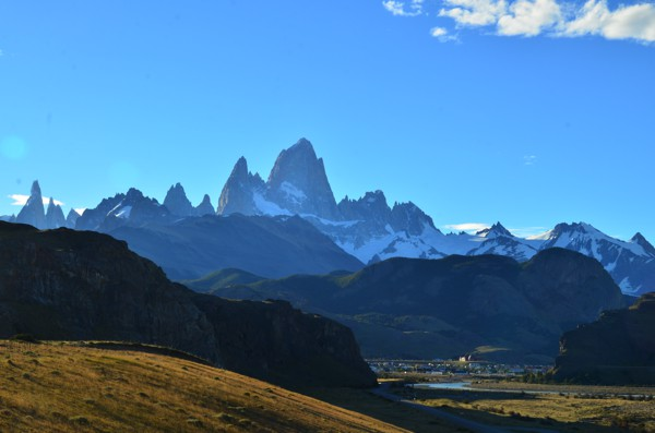 Leaving the town of El Chaltén.