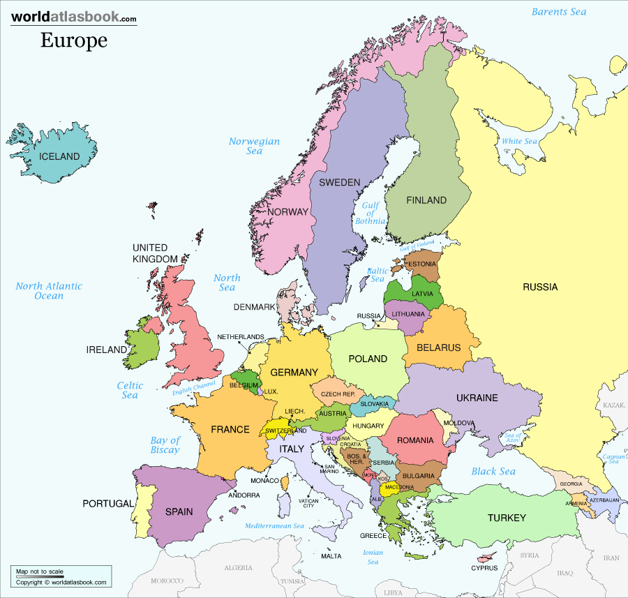 For anyone needing a refresher on their European geography.