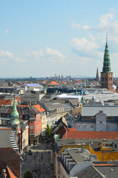 Birds-eye view of the city from Rundetårn (the Round Tower).
