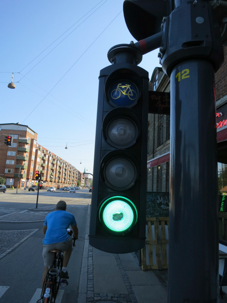 Bicycle traffic light.