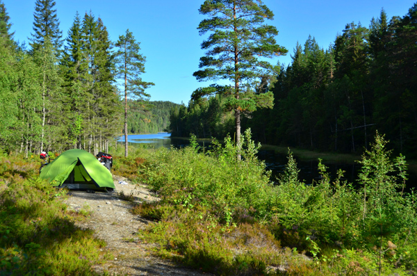 This was our first camp spot in Norway. Not too shabby.
