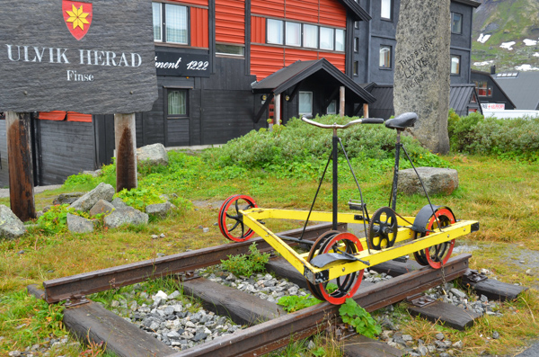 A bicycle for the rail line.