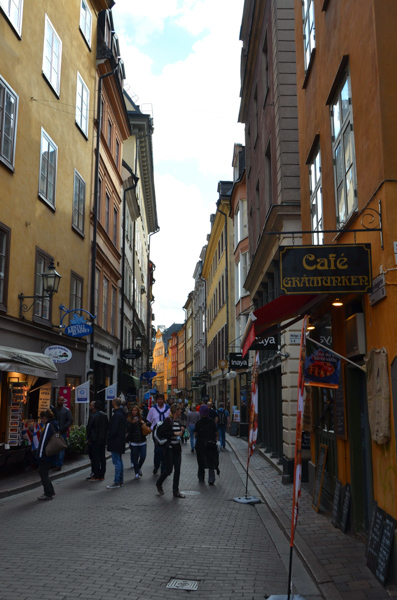 Stockholm street scene.