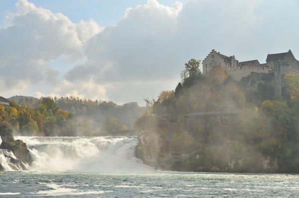 Rhine Falls in Schaffhausen, Switzerland.