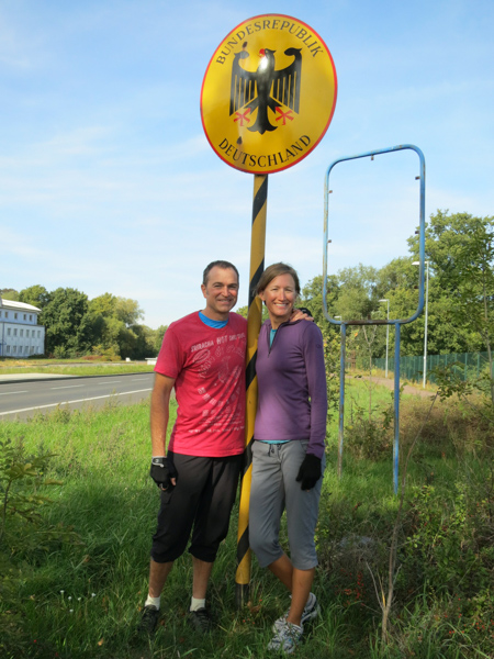 We crossed into Germany, north of Berlin and headed in a diagonal to Düsseldorf.