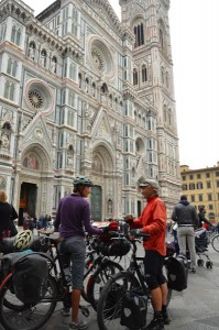 The Gothic Cathedral of Santa Maria del Fiore, completed in 1434 and the fourth largest church in the world.