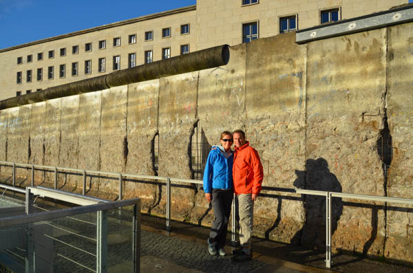 Remains of the Berlin Wall.