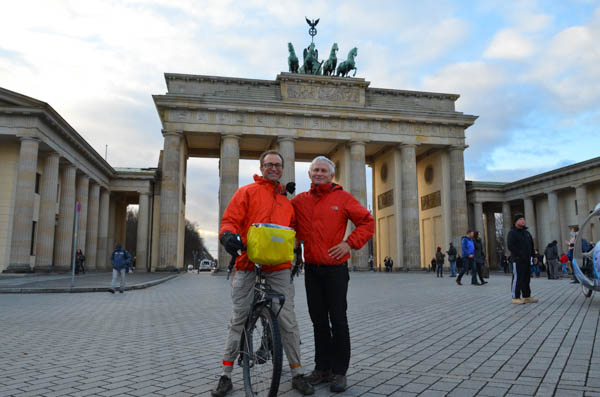 Scott and Gerald at Brandenburg gate.