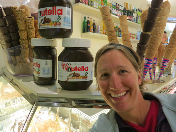 Look, in Italy the Nutella jars are a big as my head!