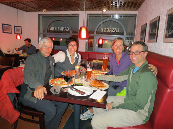 We had an overnight at Gerald's and Stephanie's home in Stuttgart, Germany and went out for delicious pizzas.